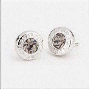 Coach Open Circle Stone Strand Earrings